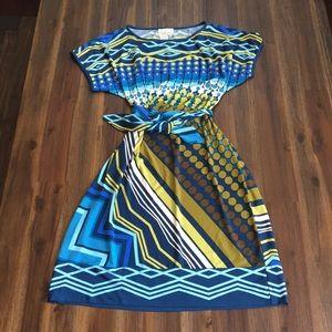 Donna Morgan patterned shirt dress
